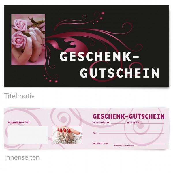 """Gutschein - Motiv """"Pink rose"""""""
