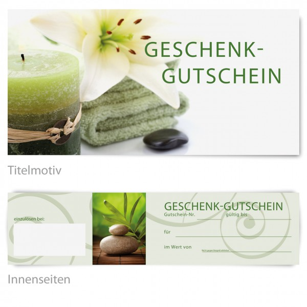 "Gutschein - Motiv ""Wellness green"""